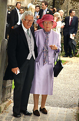 LORD & LADY GEOFFREY HOWE at the wedding of Tom Parker Bowles to Sara Buys at St.Nicholas Church, Rotherfield Greys, Oxfordshire on 10th September 2005.<br /><br />NON EXCLUSIVE - WORLD RIGHTS