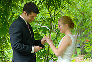 PHILADELPHIA, PA - MAY 25: Lindsay and Andrew's wedding ceremony @ Bartram Gardens May 25, 2012 @ in Philadelphia, Pennsylvania. (Photo by William Thomas Cain/Cain Images)
