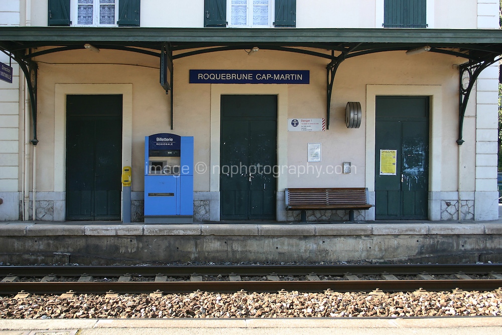Roquebrune Cap Martin train station in South of France