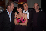 DOUGLAS HENSHALL; KRISTIN SCOTT THOMAS; BEN MILES; IAN RICKSON, Comedy Theatre First night party for Betrayal by Harold Pinter. National Gallery Cafe. Trafalgar Sq. London. <br /> <br />  , -DO NOT ARCHIVE-© Copyright Photograph by Dafydd Jones. 248 Clapham Rd. London SW9 0PZ. Tel 0207 820 0771. www.dafjones.com.