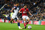 Bristol City defender Jay Dasilva (3) battles for possession with West Bromwich Albion defender Darnell Furlong (2) during the EFL Sky Bet Championship match between West Bromwich Albion and Bristol City at The Hawthorns, West Bromwich, England on 23 October 2021.