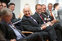 DEU, Deutschland, Germany, Berlin, 25.09.2012:<br />Der bayerische Ministerpräsident a.D. Edmund Stoiber (CSU) bei der Vorstellung seines Buchs Weil die Welt sich ändert in der Alfred-Herrhausen-Gesellschaft.