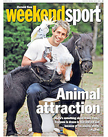 Collingwood's Travis Coke might be a Magpie at heart but he loves other animals too as you can see when captured living at his property with his menagerie go pets. Shortly after this photo was taken the Cocky took a chunk of flesh from Clokey's face and in doing so he accidentally threw away the little kitten. I've never laughed so hard in all my life - sorry Clokey. (Copyright Michael Dodge/Herald Sun)