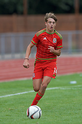 NEWPORT, WALES - Thursday, August 4, 2016: Regional Development Boys Bradley Gibbings during the Welsh Football Trust Cymru Cup 2016 at Newport Stadium. (Pic by Paul Greenwood/Propaganda)