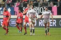 Bakkies Botah / Hugh Pyle - 28.12.2014 - Stade Francais / Racing Club Toulon - 14eme journee de Top 14<br />Photo : Aurelien Meunier / Icon Sport