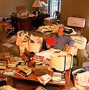 Michael Milken is a philanthropists pioneering financier of junk bonds and an inside trader photographed at his Santa Monica, California Office.