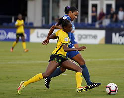 October 12, 2018 - Edinburgh, Scotland, United Kingdom - Edinburg, NC - OCTOBER 11: 2018.Sashana Campbell of Jamaica (Yellow).During CONCACAF Women's Championship Group B match between Cuba against Jamaica at H-E-BPark Stadium, Edinburg,  on October 11, 2018  (Credit Image: © Action Foto Sport/NurPhoto via ZUMA Press)