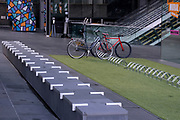 As Londoners are still told to work from home, just two bicycles are locked-up at bike racks outside the Leadenhall building during the third lockdown of the Coronavirus pandemic, in the 'City of London', the capital's financial district, aka The Square Mile, on 2nd February 2021, in London, England.