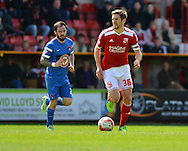 Swindon Town's Samuel Ricketts during the Sky Bet League 1 match between Swindon Town and Leyton Orient at the County Ground, Swindon, England on 3 May 2015. Photo by Mark Davies.