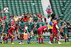 London Irish players celebrate at the final whistle - Mandatory byline: Patrick Khachfe/JMP - 07966 386802 - 02/09/2017 - RUGBY UNION - Twickenham Stadium - London, England - London Irish v Harlequins - Aviva Premiership