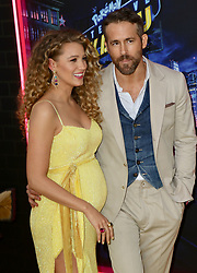 """Pikachu is seen at the U.S. Premiere of Pokémon Detective Pikachu"""" in New York City. NON-EXCLUSIVE May 02, 2019 Job 190502NRIV1 New York, NY www.bauergriffin.com. 02 May 2019 Pictured: Blake Lively,Ryan Reynolds. Photo credit: Nancy Rivera/Bauergriffin.com / MEGA TheMegaAgency.com +1 888 505 6342"""