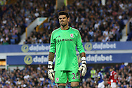 Middlesbrough Goalkeeper Victor Valdes looks on. Premier league match, Everton v Middlesbrough at Goodison Park in Liverpool, Merseyside on Saturday 17th September 2016.<br /> pic by Chris Stading, Andrew Orchard sports photography.