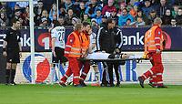 Fotball Tippeligaen Rosenborg - Lillestrøm<br /> 9 mai 2015<br /> Lerkendal Stadion, Trondheim<br /> <br /> <br /> Rosenborgs Stefan Strandberg ble skadet og bæres ut på båre<br /> <br /> <br /> Foto : Arve Johnsen, Digitalsport