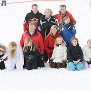 AUS/Lech/20140217 - Queen Maxima, King Willem Alexander, Princess Amalia, Princess Alexia and Princess Ariane with Princess Beatrix, Prince Constantijn, Princess Laurentien with their children Eloise, Claus-Casimir en Léonore , Prinsess Mabel with childeren Luana en Zaria