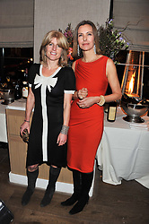 Left to right, RACHEL JOHNSON and actress CAROLE BOUQUET at a dinner hosted by Marlon & Nadya Abela at Cassis 232-236 Brompton Road, London to thank customers & friends for their custom held on 9th February 2012.