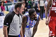 DESCRIZIONE : Campionato 2014/15 Dinamo Banco di Sardegna Sassari - Openjobmetis Varese<br /> GIOCATORE : Shane Lawal Maurizio Biggi<br /> CATEGORIA : Fair Play<br /> SQUADRA : Dinamo Banco di Sardegna Sassari<br /> EVENTO : LegaBasket Serie A Beko 2014/2015<br /> GARA : Dinamo Banco di Sardegna Sassari - Openjobmetis Varese<br /> DATA : 19/04/2015<br /> SPORT : Pallacanestro <br /> AUTORE : Agenzia Ciamillo-Castoria/L.Canu<br /> Predefinita :