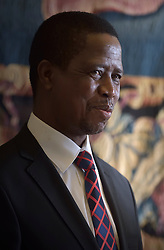 Feb 5, 2016 - Vatican City State (Holy See) - POPE FRANCIS meets Zambia's President EDGAR LUNGU during a private audience  at the Vatican. (Credit Image: © Evandro Inetti/ZUMA Wire)