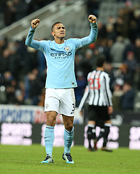 27 December 2017 Newcastle: Premier League Football - Newcastle United v Manchester City : Danilo of Man City celebrates victory.<br /> (photo by Mark Leech)