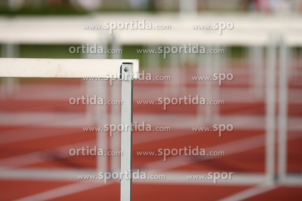 Hurdles at Athletic National Championship of Slovenia, on July 19, 2008, in Stadium Poljane, Maribor, Slovenia. (Photo by Vid Ponikvar / Sportal Images).