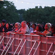 London,England,UK, 17th Aug 2016 : Thousands of local attend Under the Stars with Lee Thompson Ska Orchestra and Junior Marvin's Wailers at Central Park,London,IK. Photo by See Li/Picture Capital