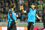 Wicket - Moeen Ali of Worcestershire celebrates taking the wicket of Delray Rawlins of Sussex during the final of the Vitality T20 Finals Day 2018 match between Worcestershire Rapids and Sussex Sharks at Edgbaston, Birmingham, United Kingdom on 15 September 2018.