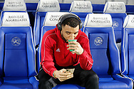 Watford forward Troy Deeney (9) relaxing before The FA Cup 5th round match between Queens Park Rangers and Watford at the Loftus Road Stadium, London, England on 15 February 2019.