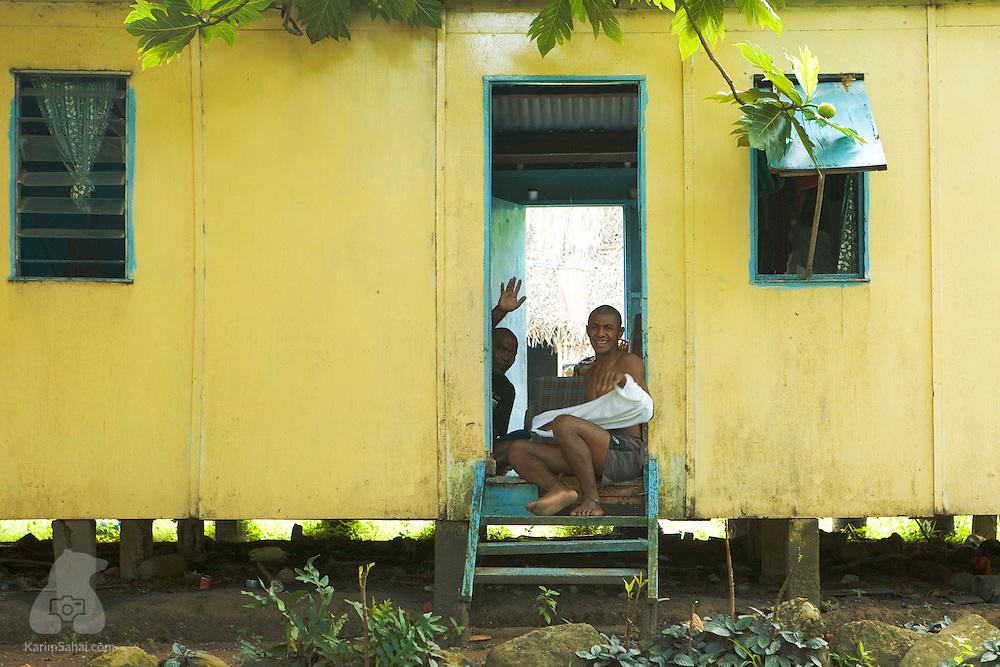 Villagers at Nukubulavu, Kadavu island, Fiji. Kadavu is the fourth largest island in the fijian archipelago and is home to about 10,000 people.