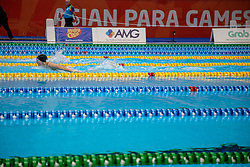 October 11, 2018 - Jakarta, Jakarta, Indonesia - Jakarta, Indonesia, 11 October 2018 : Paraswim compettition at Aquatic Building in Gelora Bung Karno Jakarta on Asian Paragames 2018 Competition. (Credit Image: © Donal Husni/ZUMA Wire)