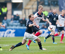 Dundee's Gary Irvine and Falkirk's Craig Sibbald.<br /> Dundee 0 v 1 Falkirk, Scottish Championship game played today at Dundee's Dens Park.<br /> © Michael Schofield.