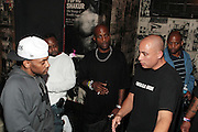 New York, NY-June 13 : (L-R) Hiphop Recording Artist Prodigy(Mobb Deep), Hiphop Recording Artist DMX and Chang Weisberg, Founder, Guerrilla Union attend The ROCK THE BELLS FESTIVAL SERIES Press Conference and Launch Party produced in association with Boost Mobile and Guerrilla Union powered by Blackberry held at the Santos Party House on June 14, 2012 in New York City. Established in 2000, Guerilla Union has developed into one of the premiere core urban lifestyle brands in the U.S., manifesting itself in many forms including music, events, media and fashion. Guerilla Union's mission is to create experiential platforms, unique content and provide services that develop artists and their communities. (Photo by Terrence Jennings)