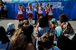 May 5, 2018 - Haskovo, Bulgaria - The Bulgarian political party of DPS organize anniversary 34 years of the Bulgaria's revival process, which started at 1984 years. The beginning of the event was held in the Bulgarian village of Karamantsi, where the communist regime launched a brutal policy of forced assimilation and peoples' name were changed against the country's ethnic Turkish minority, turkish language also was banned. During the processes in 1984 and 1989 more than 850 thousand people were forcibly evicted to live in Turkey.  Today the Bulgarian ethnic party accepts that this is the beginning of the resistance against the communist regime. The leader of the DPS party Mustafa Karadayi recall that in the next month there are elections about the presidency republic in Turkey and he told that belive to be democratic elections and to win the covenants of Kemal Ataturk, Karamantsi, Haskovo, Bulgaria on May 05, 2018  (Credit Image: © Hristo Rusev/NurPhoto via ZUMA Press)
