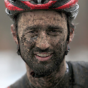 NEW HAVEN, CONNECTICUT- DECEMBER 18:  A competitor at the finish after competition during the Elm City CX, CT Series Cyclocross Competition on December 18th, 2016 at the Edgewood Park, New Haven, Connecticut (Photo by Tim Clayton/Corbis via Getty Images)