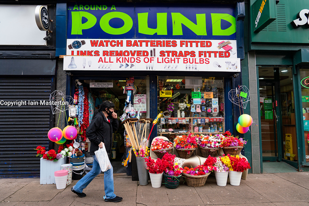 Glasgow, Scotland, UK. 7 October 2020. Time Out magazine has named Dennistoun in the East End of Glasgow as one of the world's coolest districts. Pictured;  Typical independent shop on Duke Street in Dennistoun Iain Masterton/Alamy Live News