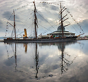 Captain Scott's 1901-03 British Antarctic Expedition ship RRS Discovery, now a museum in Dundee, Scotland.