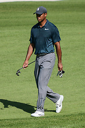 August 9, 2018 - Town And Country, Missouri, U.S - TIGER WOODS from Jupiter Florida, USA during round one of the 100th PGA Championship on Thursday, August 8, 2018, held at Bellerive Country Club in Town and Country, MO (Photo credit Richard Ulreich / ZUMA Press) (Credit Image: © Richard Ulreich via ZUMA Wire)
