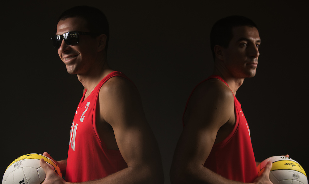 11/6/2014 Costa Mesa, CA  USA:  AVP volleyball player Bill Kolinske poses for a portrait at SportsShooter Academy XI.  Photo by Rhea Nall, Sportsshooter Academy XI.
