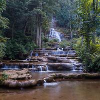 Phra Charoen Waterfall, in Phra Charoen National Park, Mae Sot, Thailand.