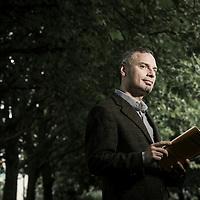 Brussels, Belgium, 21 August 2014<br /> Translator Ioannis Ikonomou.<br /> Photo: Ezequiel Scagnetti / Babylonia - Creative Affairs Bureau