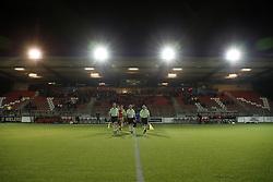 line-up during the Dutch Jupiler League match between Jong FC Utrecht and Almere City FC at the Sporpark De Westmaat on November 24, 2017 in Bunschoten-Spakenburg, The Netherlands