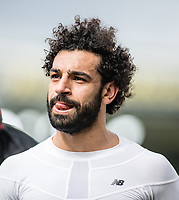 LONDON, ENGLAND - MARCH 31: (11) Mohamed Salah of Liverpool  after  the Premier League match between Crystal Palace and Liverpool at Selhurst Park on March 31, 2018 in London, England.