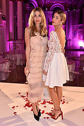 Left to right, Sophie Ball and Francesca Sieler at the Floral Ball in aid of Sheba Medical Center hosted by Laura Pradelska and Zoe Hardman and held at One Marylebone, 1 Marylebone Road, London England. 14 March 2017.