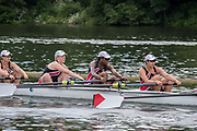 Henley. Berks, United Kingdom. <br /> <br /> J8, Heat, St Paul's School during their heat at the 2017 Henley' Women's Regatta. Rowing on, Henley Reach. River Thames. <br /> <br /> <br /> Saturday  17/06/2017<br /> <br /> <br /> [Mandatory Credit Peter SPURRIER/Intersport Images]