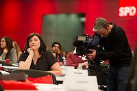 DEU, Deutschland, Germany, Berlin, 11.12.2015: Johanna Uekermann (SPD), Bundesvorsitzende der Jusos, beim Bundesparteitag der SPD im CityCube.