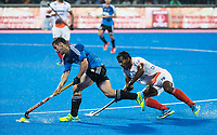 BHUBANESWAR -  Hockey World League finals , Semi Final . Argentina v India.  Diego Paz (Arg) met Amit Rohidas (Ind)   COPYRIGHT KOEN SUYK