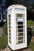 White telephone box, Hull, Yorkshire, England