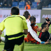 Besiktas's Kerim Koyunlu (R) goal during their Turkish Super League soccer match Istanbul Basaksehir between Besiktas at the Basaksehir Fatih Terim Arena at Basaksehir in Istanbul Turkey on Sunday, 09 November 2014. Photo by Kurtulus YILMAZ/TURKPIX