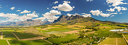 April 17, 2020: Panoramic aerial view of Simonsberg Nature Reserve, South Africa. (Credit Image: © Amazing Aerial via ZUMA Wire)