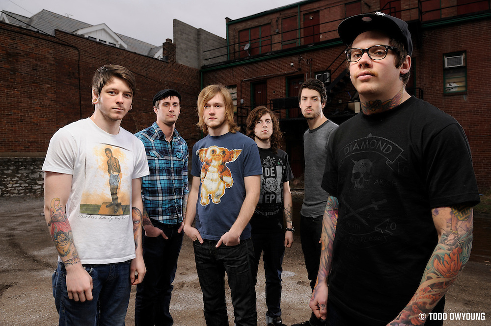 Portraits of metalcore band The Devil Wears Prada, photographed on March 15, 2010 by Todd Owyoung.