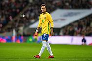 Brazil (10) Neymar during the International Friendly match between England and Brazil at Wembley Stadium, London, England on 14 November 2017. Photo by Sebastian Frej.