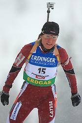 Madara Liduma (LAT) at Women 15 km Individual at E.ON Ruhrgas IBU World Cup Biathlon in Hochfilzen (replacement Pokljuka), on December 18, 2008, in Hochfilzen, Austria. (Photo by Vid Ponikvar / Sportida)